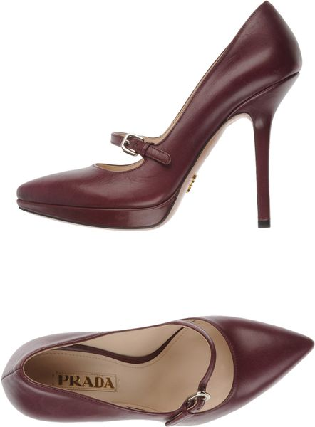Prada Platform Pumps in Brown (mauve) - Lyst