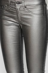 Rag & Bone Pewter Legging in Black (pewter) - Lyst