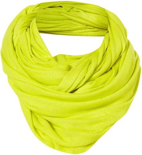 Topshop Plain Jersey Snood in Green (chartreuse) - Lyst