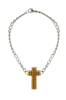 Topshop Premium Spike Cross Necklace - Lyst