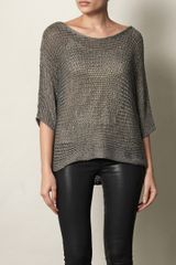 Vince Metallic Knit Sweater - Lyst
