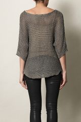 Vince Metallic Knit Sweater in Gray (grey) - Lyst