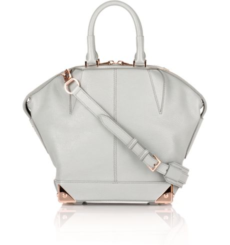 Alexander Wang Emile in Mercury Pebble Print Calf With Rose Gold in White (mercury) - Lyst