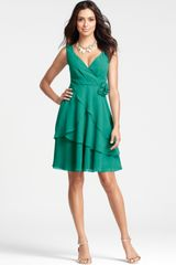 Ann Taylor Petite Silk Georgette Flower Bridesmaid Dress - Lyst