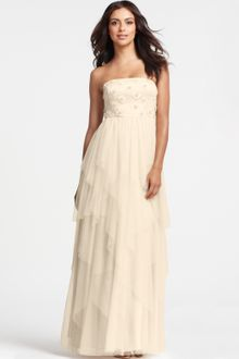 Ann Taylor Strapless Beaded Tulle Gown - Lyst