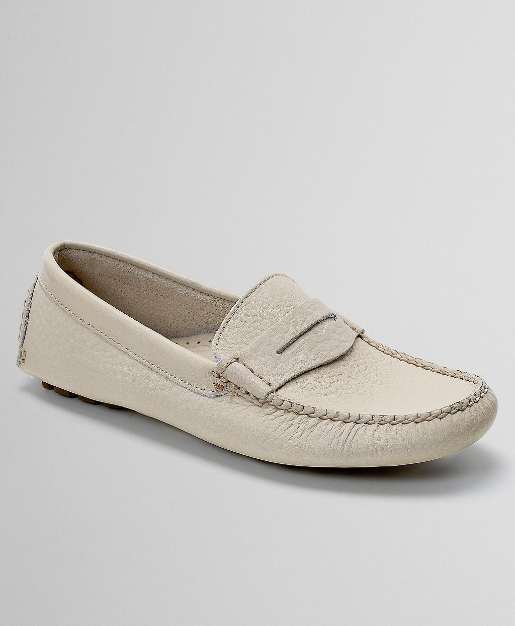 91228747f81 Lyst - Brooks Brothers Driving Penny Loafers in Natural