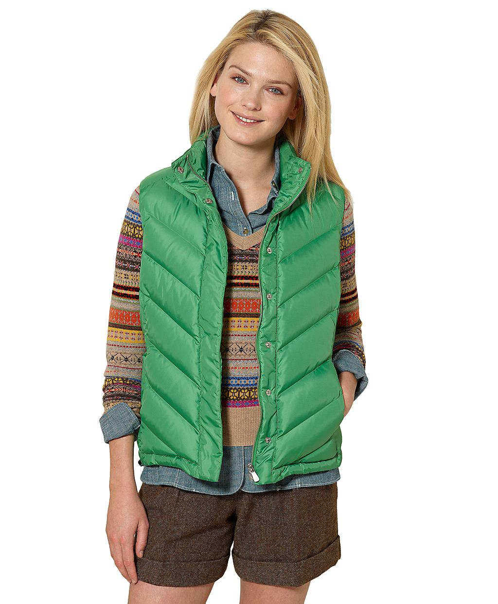 Lyst Brooks Brothers Puffer Vest In Green