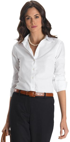 Brooks Brothers White Blouse 32