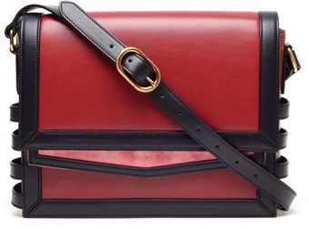 Christian Louboutin Farida Leather And Suede Messenger Bag - Lyst