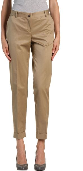 D&g Casual Trouser in Beige (camel) - Lyst