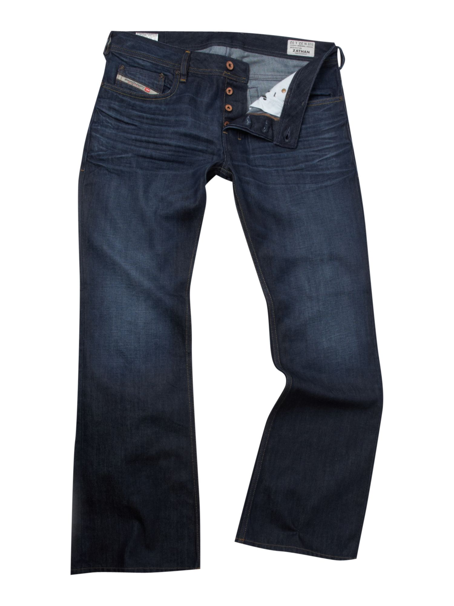Diesel Mens Zathan Denim Jeans in Blue for Men | Lyst