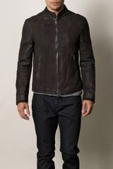 John Varvatos Leather Jacket - Lyst