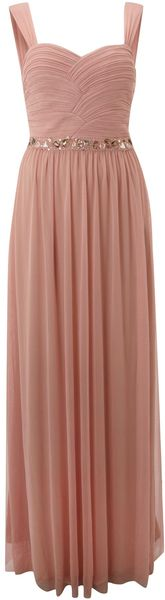 Js Collections Beaded Ruched Bodice Dress - Lyst