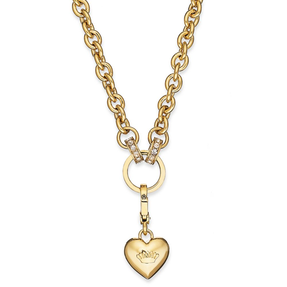 Juicy couture gold tone chunky link charm catcher necklace for Juicy couture jewelry necklace