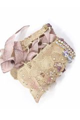 Krista R Orchid Embroidered Cuff in Purple (beige) - Lyst