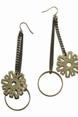 Mademoiselle Felee Etoile Long Earrings Gm Bronze - Lyst