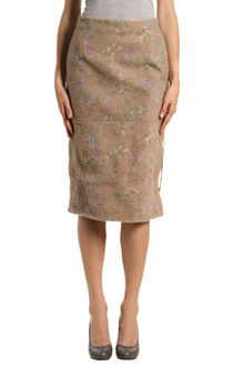 Maison Martin Margiela Leather Skirt - Lyst