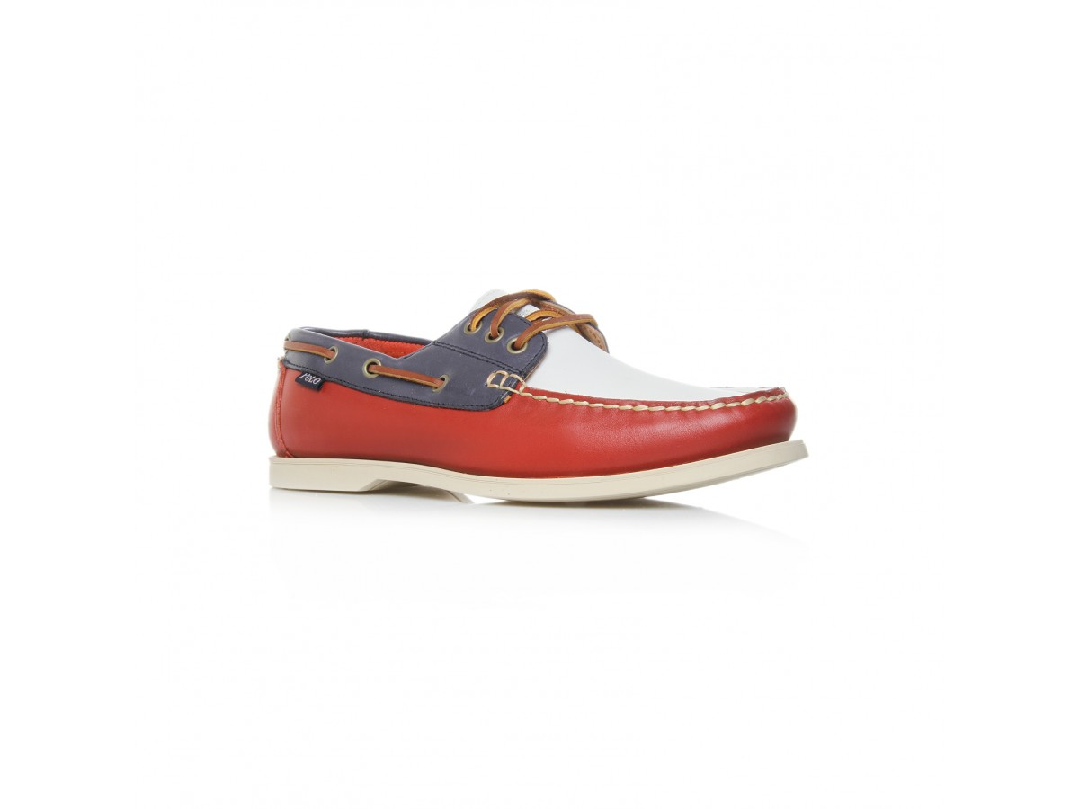 Polo Ralph Lauren Bienne Boat Shoe in Red for Men (red/leather