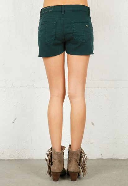 Rag & Bone Cut Off Short in Green - Lyst