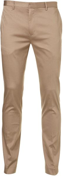 Topman Pine Bark Ultra Skinny Trousers in Beige for Men (brown) - Lyst