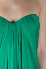 Alexander Mcqueen Bustier Dress in Green (emerald) - Lyst
