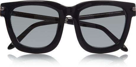 Alexander Wang Squareframe Acetate and Metal Sunglasses in Black - Lyst