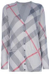 Burberry Brit Checked Long Cardigan - Lyst