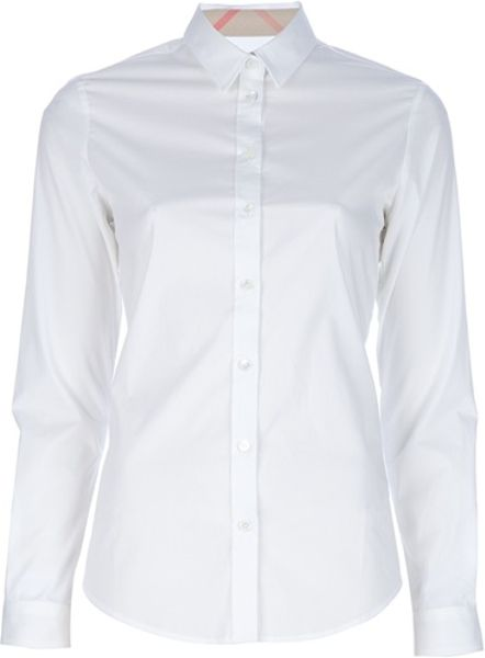 Burberry Brit Classic Shirt in White - Lyst