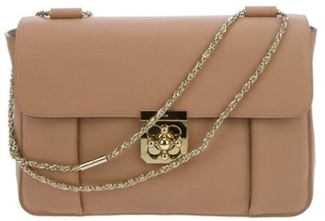 Chloé Elsie Shoulder Bag in Brown - Lyst