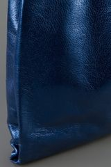 Jil Sander Metallic Market Bag in Blue - Lyst