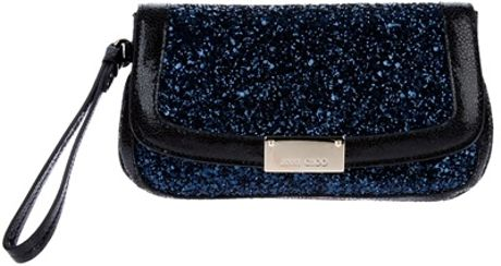 Jimmy Choo Sparkly Clutch in Blue - Lyst