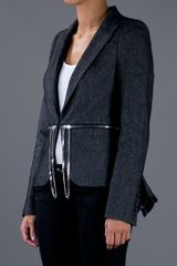 Mcq By Alexander Mcqueen Zip and Chain Belt Blazer in Black - Lyst