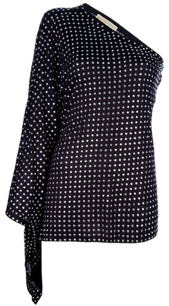 Michael Kors Asymmetric Dotted Top - Lyst