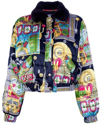 Moschino Vintage Slot Machine Print Jacket - Lyst