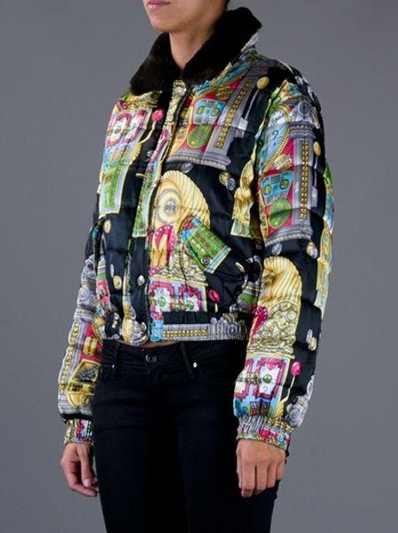 Moschino Slot Machine Print Jacket In Multicolor Black