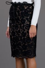 Valentino Lace Skirt in Black - Lyst