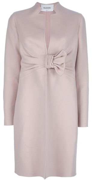 Valentino Bow Detail Coat - Lyst