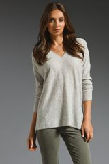 Vince Double Vee Sweater - Lyst