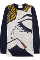3.1 Phillip Lim The Break Up Intarsia Merino Wool Sweater