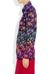 Aminaka Wilmont Printed Silk Crepe De Chine Shirt in Multicolor (multicolored) - Lyst