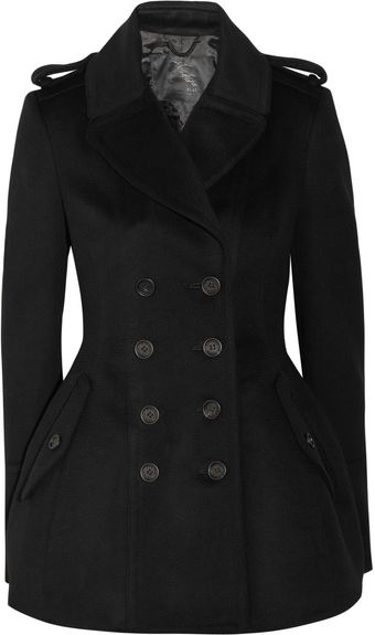 Burberry Prorsum Double breasted Wool and Cashmere blend Coat - Lyst