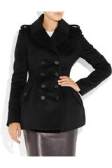 Burberry Prorsum Double breasted Wool and Cashmere blend Coat in Black - Lyst
