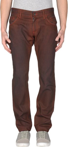 Dolce & Gabbana Denim Pants in Brown for Men (maroon) - Lyst