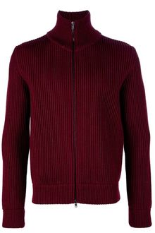 Maison Martin Margiela Zip Up Wool Cardigan - Lyst