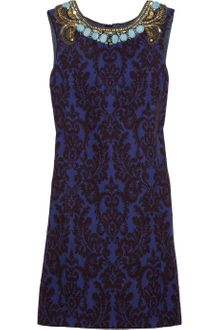 Matthew Williamson Embellished Jacquard Dress - Lyst