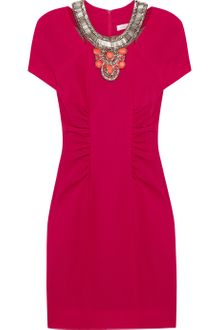 Matthew Williamson Beaded Wool Crepe Dress - Lyst