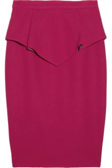 Matthew Williamson Wool Crepe Peplum Pencil Skirt - Lyst