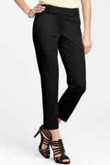 Ann Taylor Petite Curvy Polished Cotton Cropped Pants - Lyst