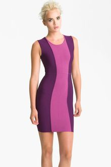 BCBGMAXAZRIA Colorblock Knit Sheath Dress - Lyst