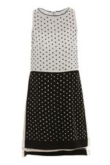 Diane Von Furstenberg Abrielle Crystal Dress in Black (white) - Lyst